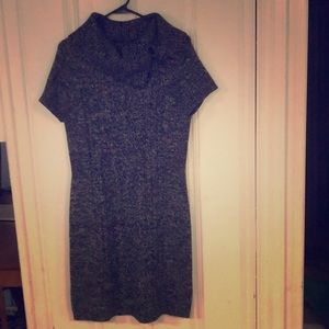Gray and Black sweater dress